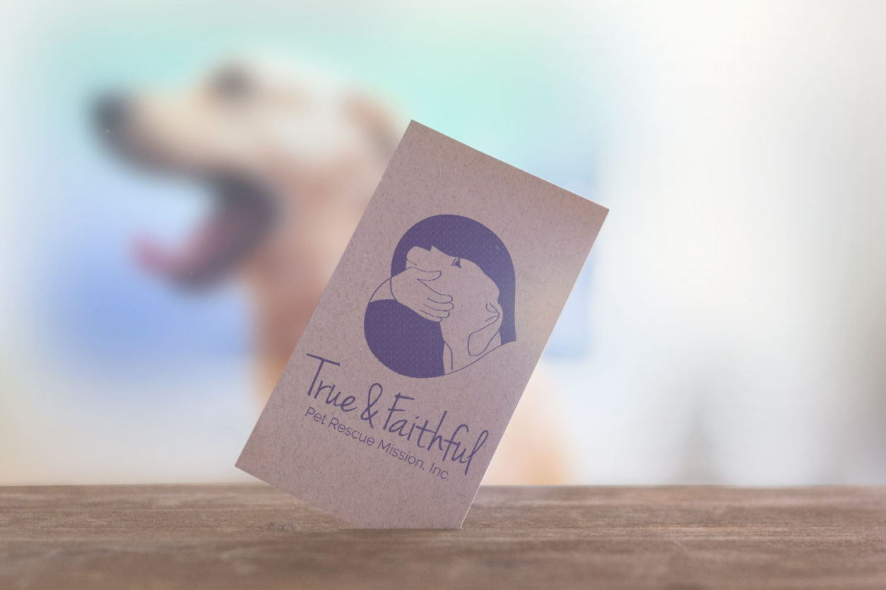 True and faithful pet rescue mission design by Nakevia Designs