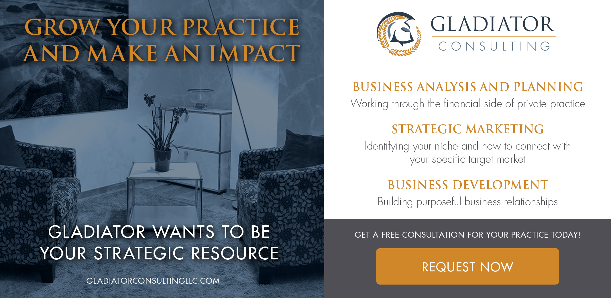 Gladiator Consulting marketing for psychologists therapists counselors